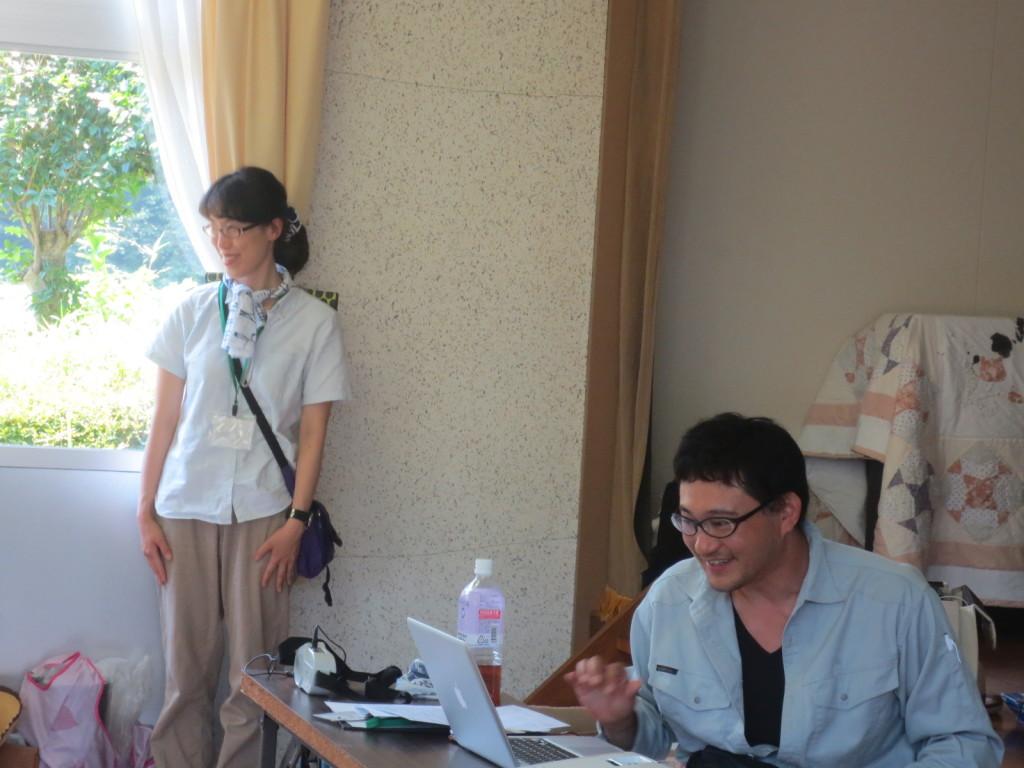 講師の林鷹央氏(右)徳永亜由美氏(左)